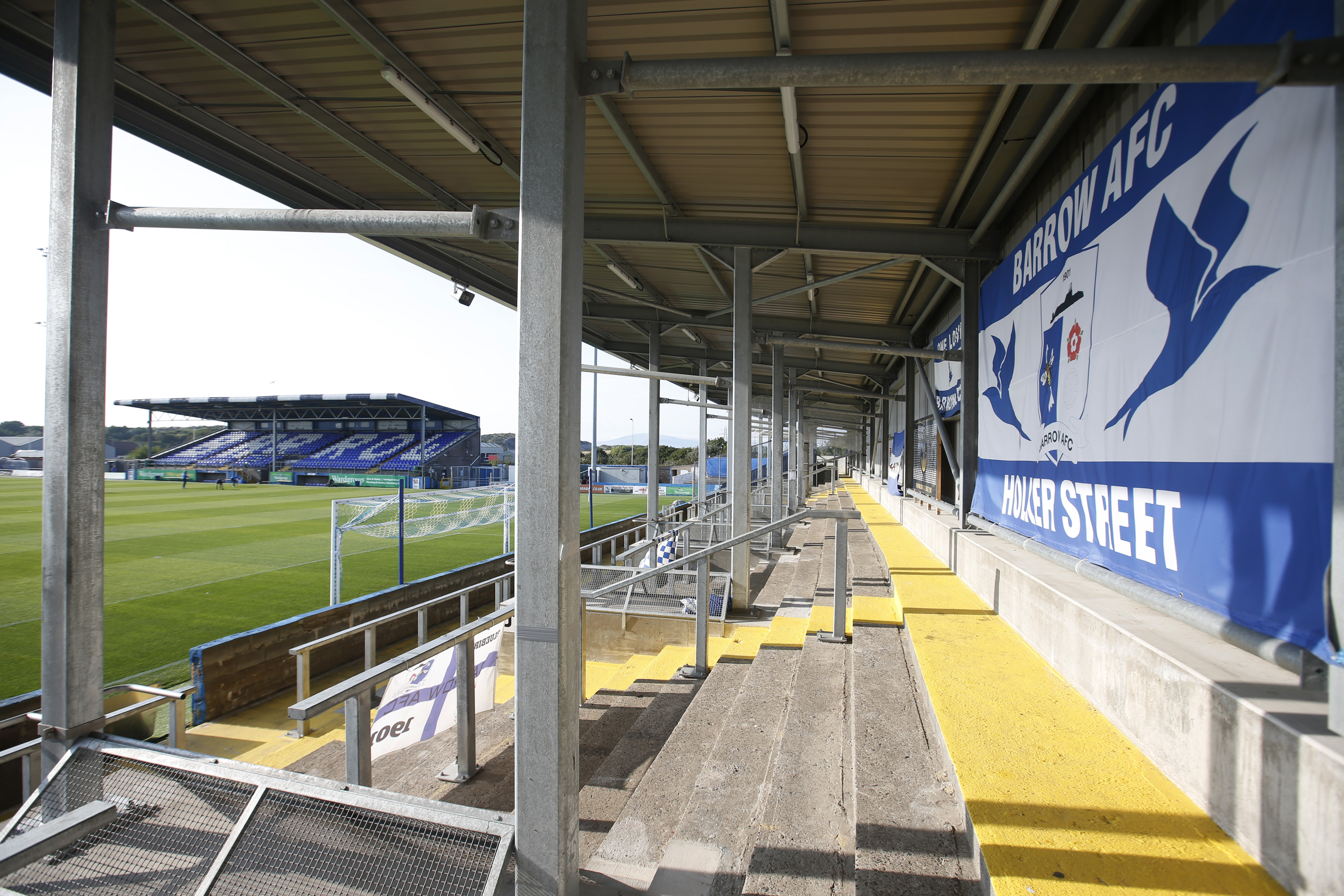 Soccer - England - Carabao Cup Second Round - Barrow v Aston Villa - Holker Street, Barrow-in-Furness, Britain - August 24, 2021 General view inside the stadium before the match Action Images via Reuters/Ed Sykes - UP1EH8O1CVR4G
