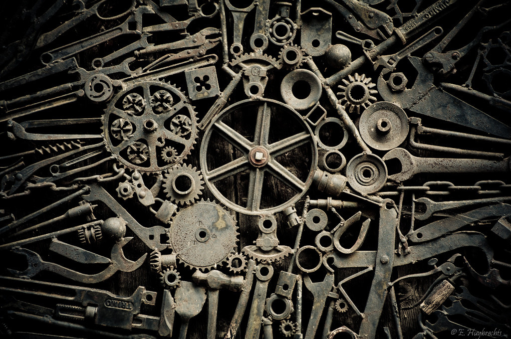 Old cogs and mechanical parts