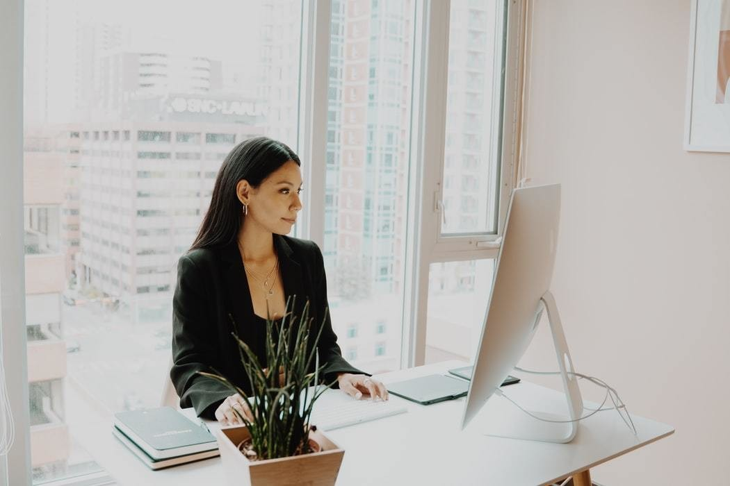 image of a business woman working