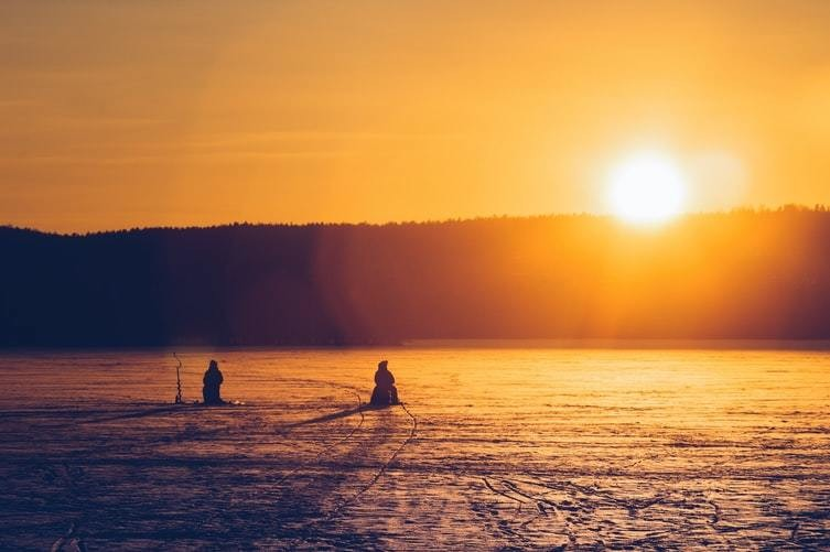 image of a sunset in Lahti, Finland