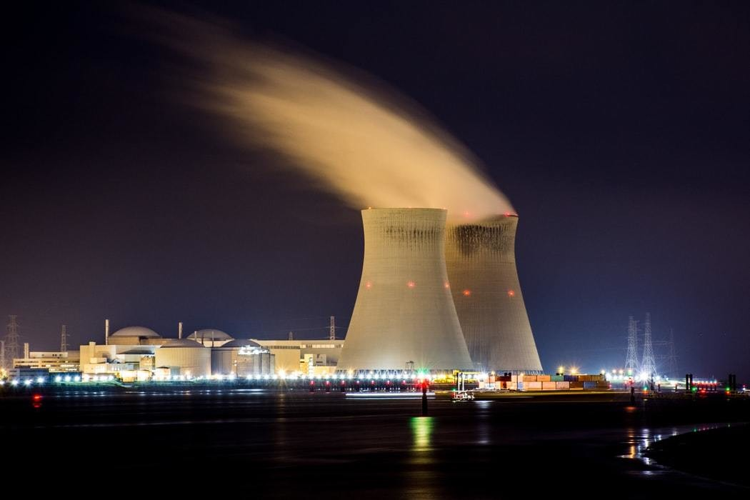 Nuclear powerplant pictured.