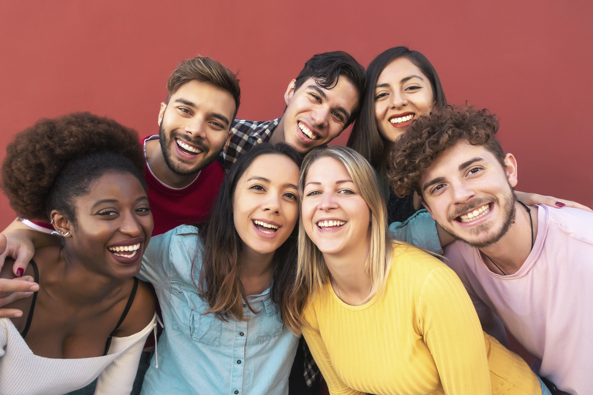 A mulit-cultural group of young people