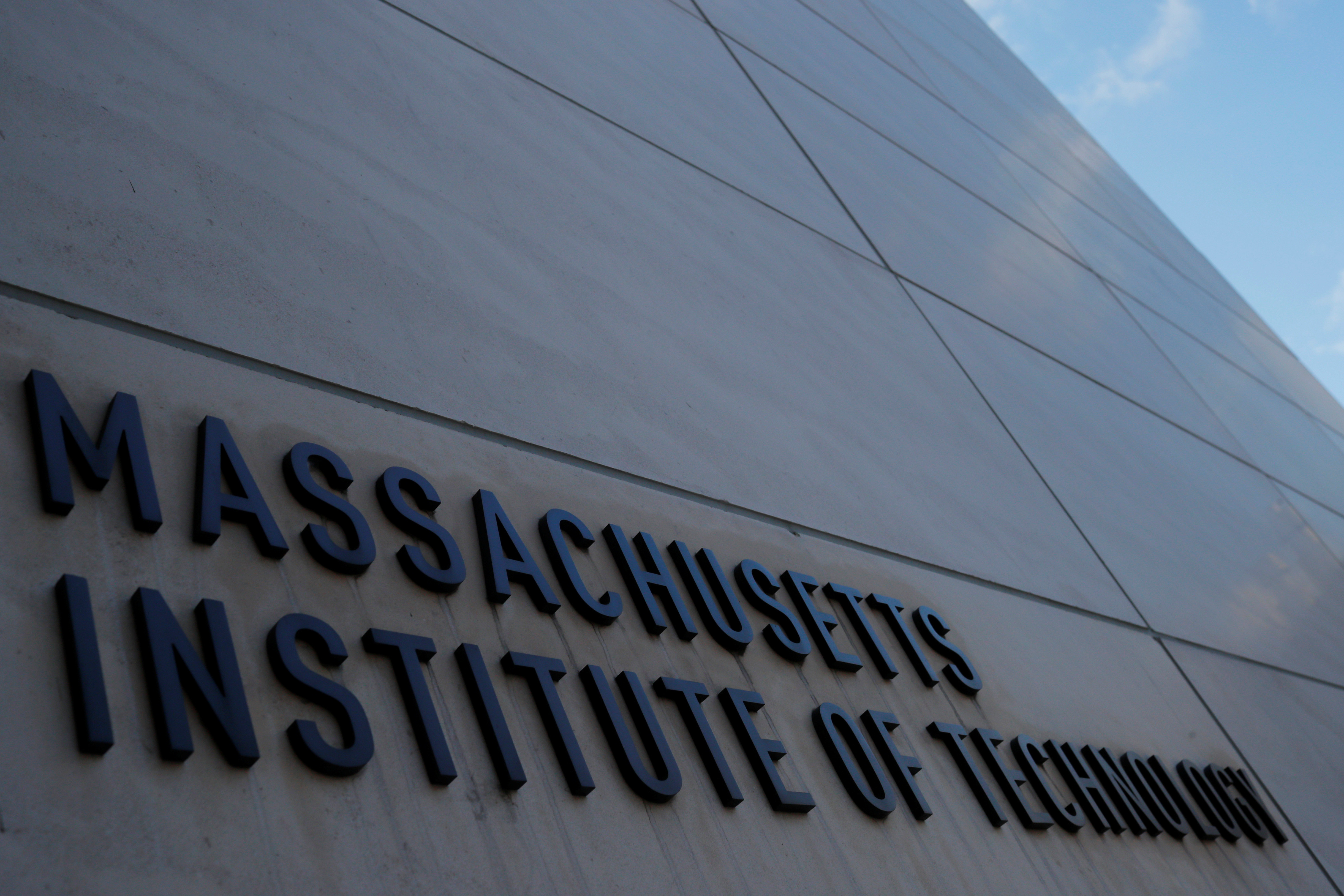 The sign at Building 76 at the Massachusetts Institute of Technology (MIT) in Cambridge, Massachusetts, U.S., November 21, 2018.
