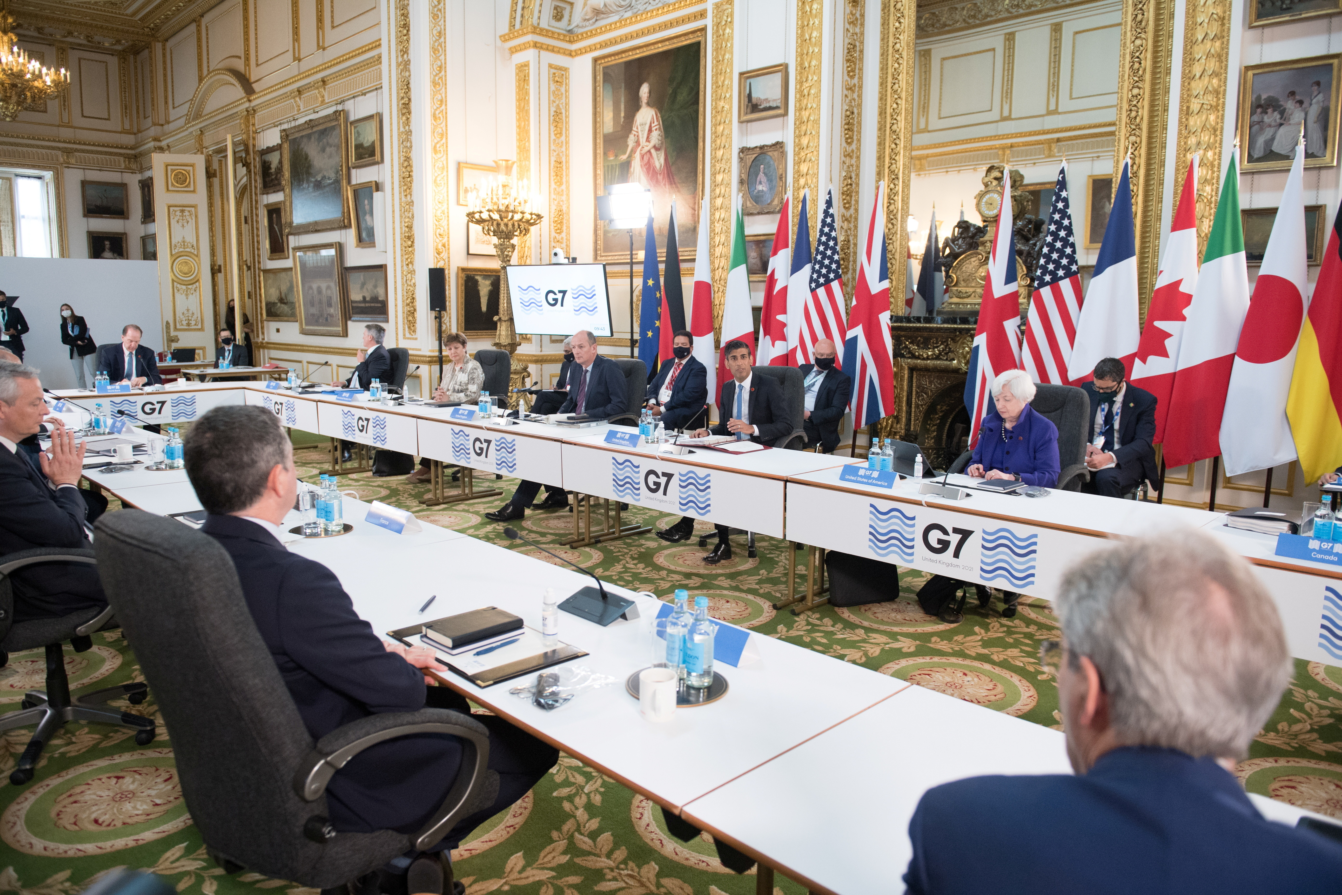 a meeting of finance ministers from across the G7 nations