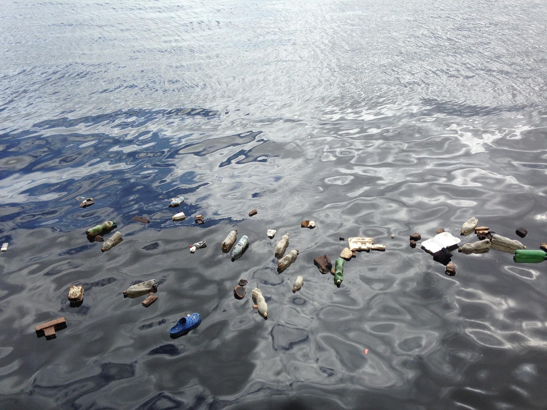 Image of plastic floating in the ocean