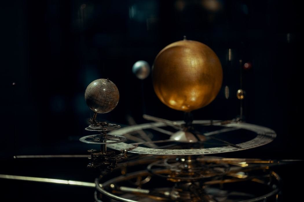 A depiction of our solar system.