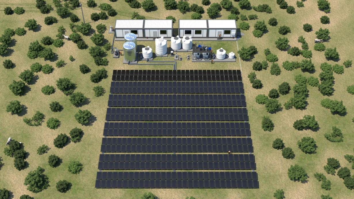 A view of a planned solar-powered desalination plant in east India that could be a sustainable option for other coastal areas. HANDOUT/Desolenator