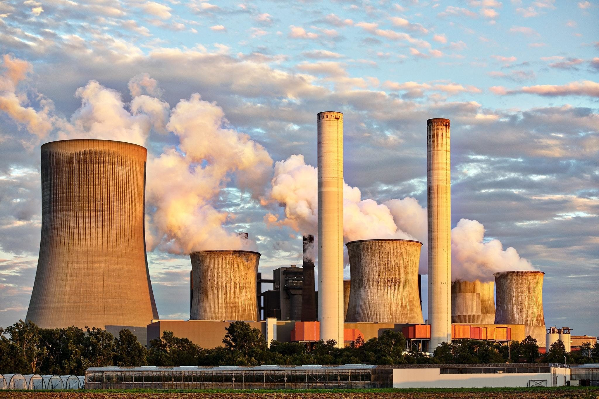 Coal-fired power plant.