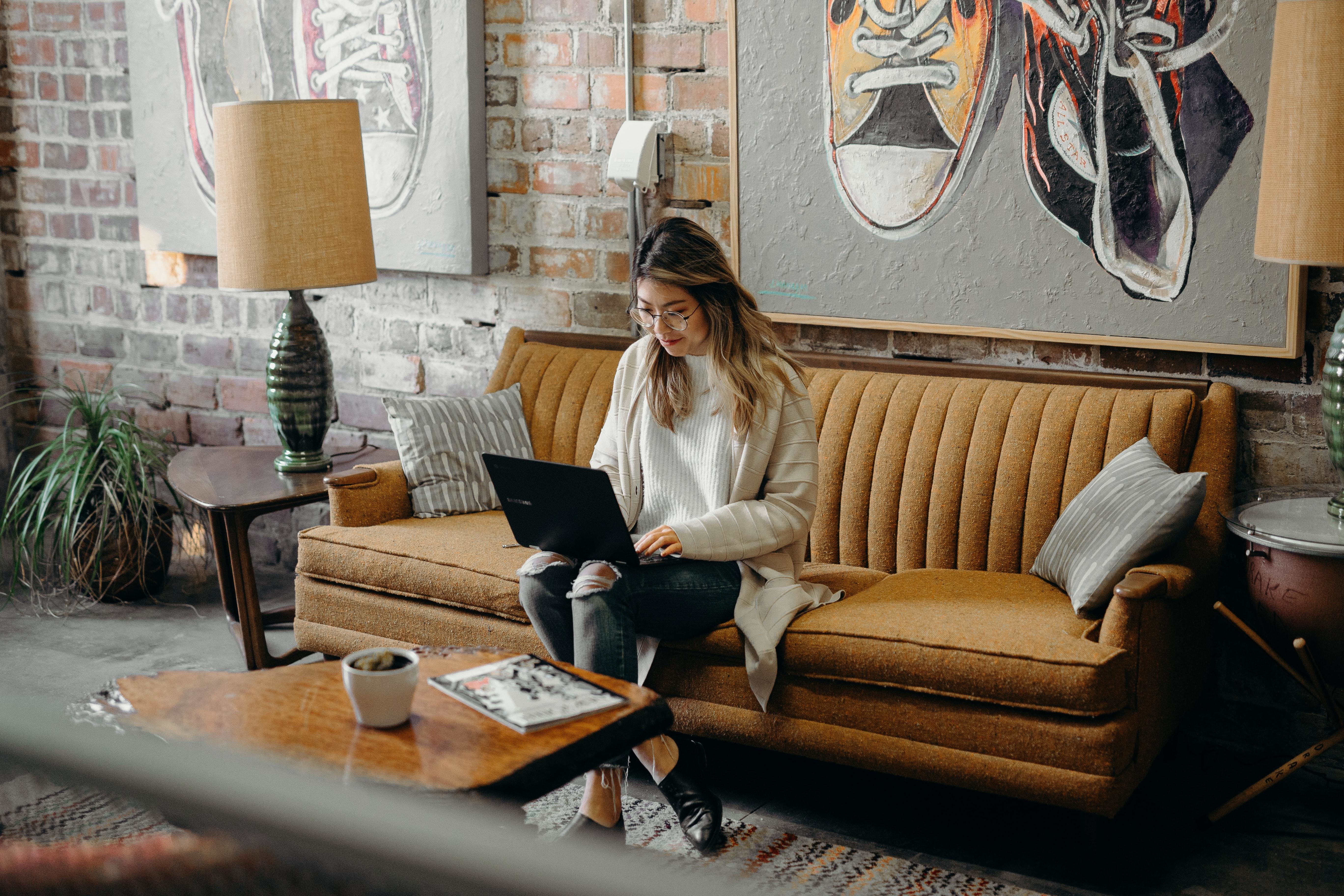 """The surge in working from home, like this woman here, means that leaders need to hold a """"working from home"""" relaunch to help their teams learn to reorient based on the new realities."""