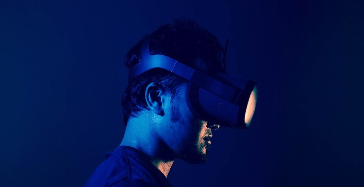 image of a person wearing a virtual reality headset