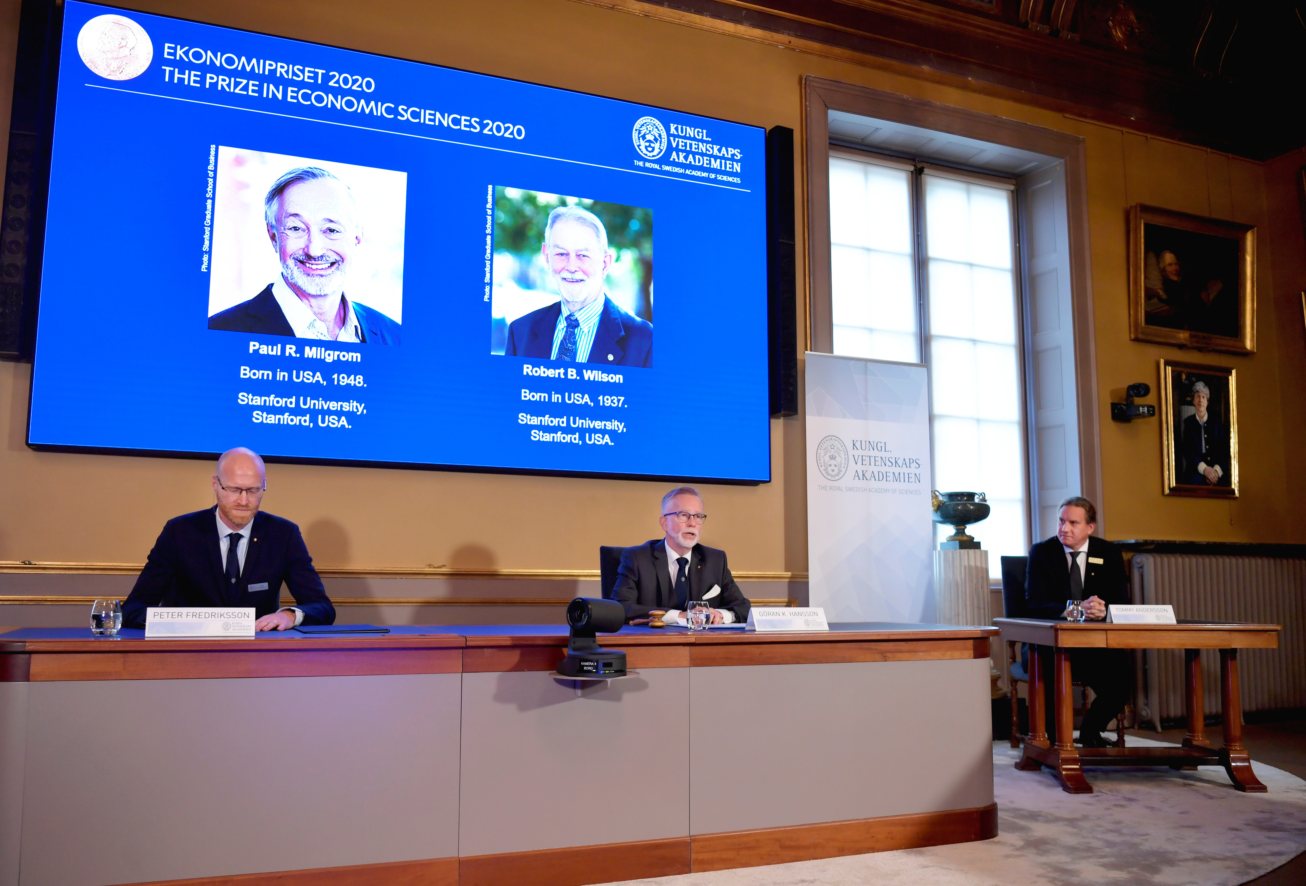 nobel prize economics 2020 award auction theory science economies policies money fund Sweden Paul Milgrom and Robert Wilson  academy