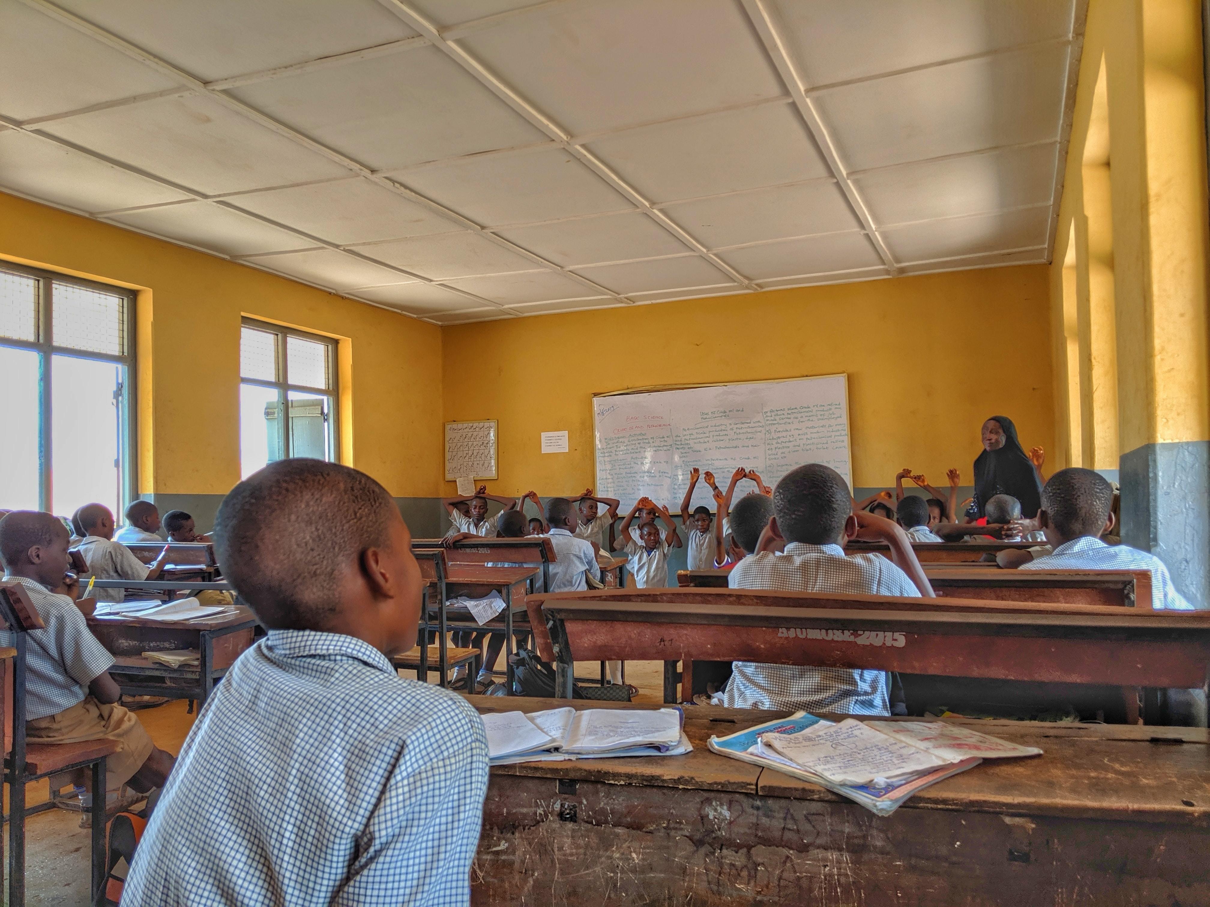 image of school children in Africa