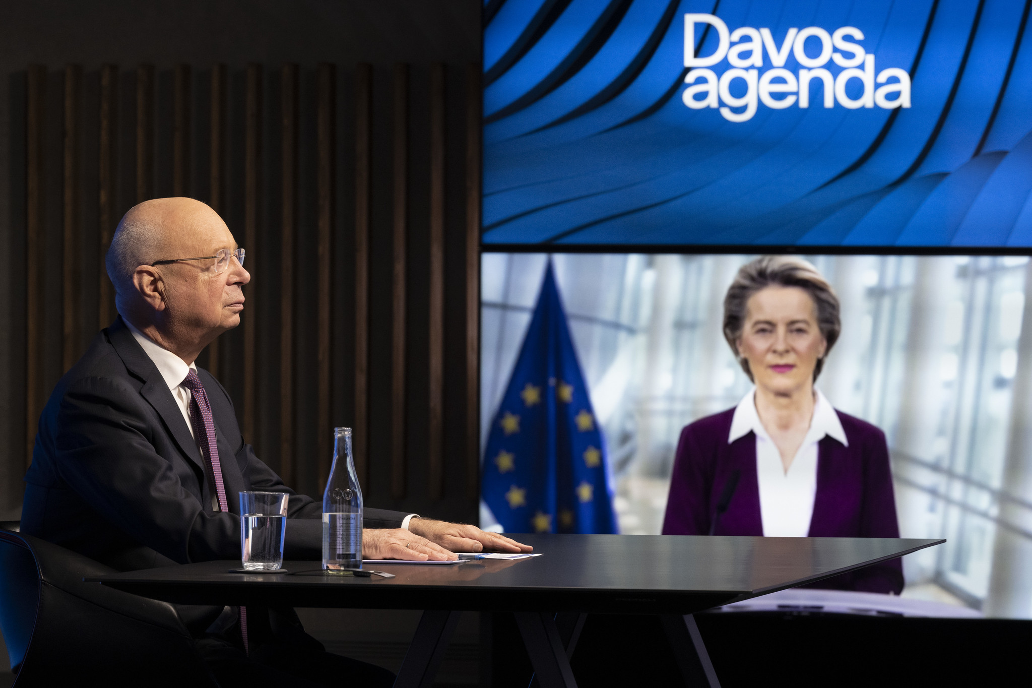 Professor Klaus Schwab World Economic Forum Davos Agenda Week European Commission Ursula von der Leye
