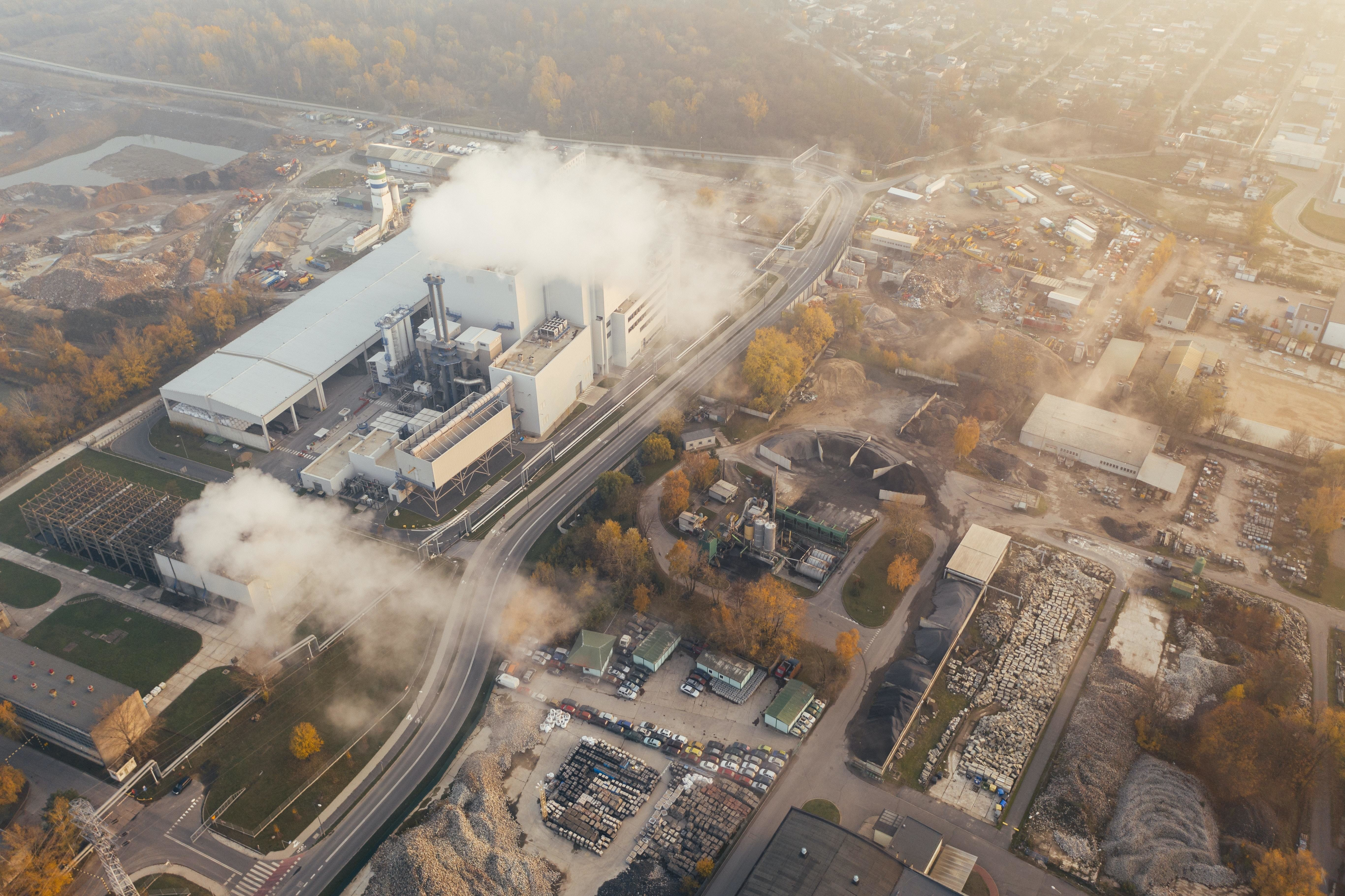 Emissions, such as the one coming from this factory, could be reduced and managed through carbon credits.