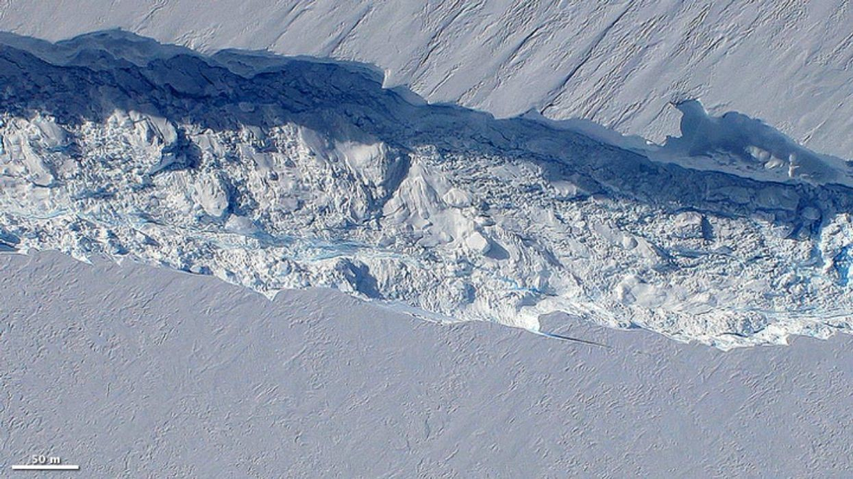 A crack in the Pine Island Glacier, which is closer to collapse than thought.