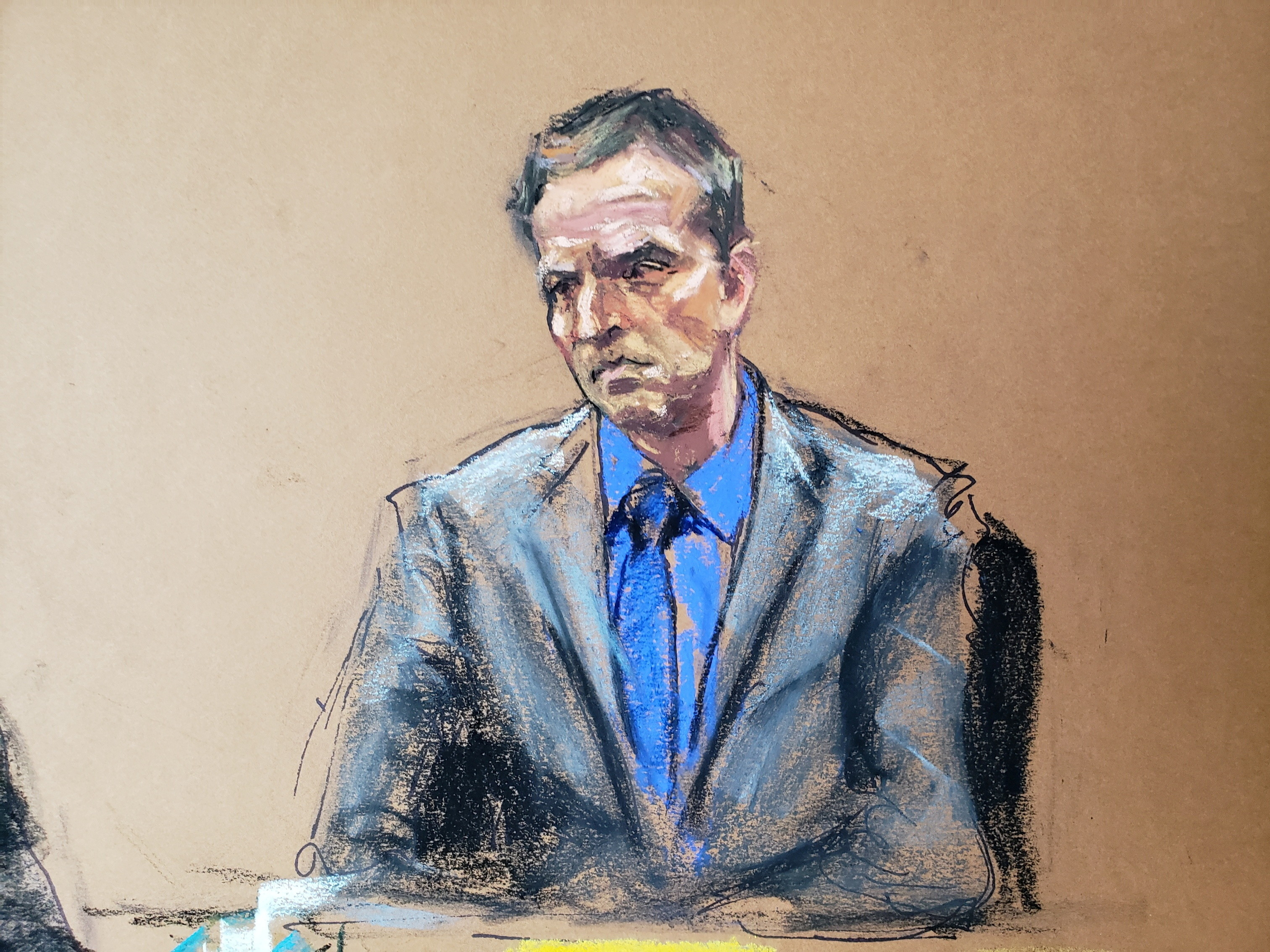 image of the courtroom sketch of former Minneapolis police officer Derek Chauvin