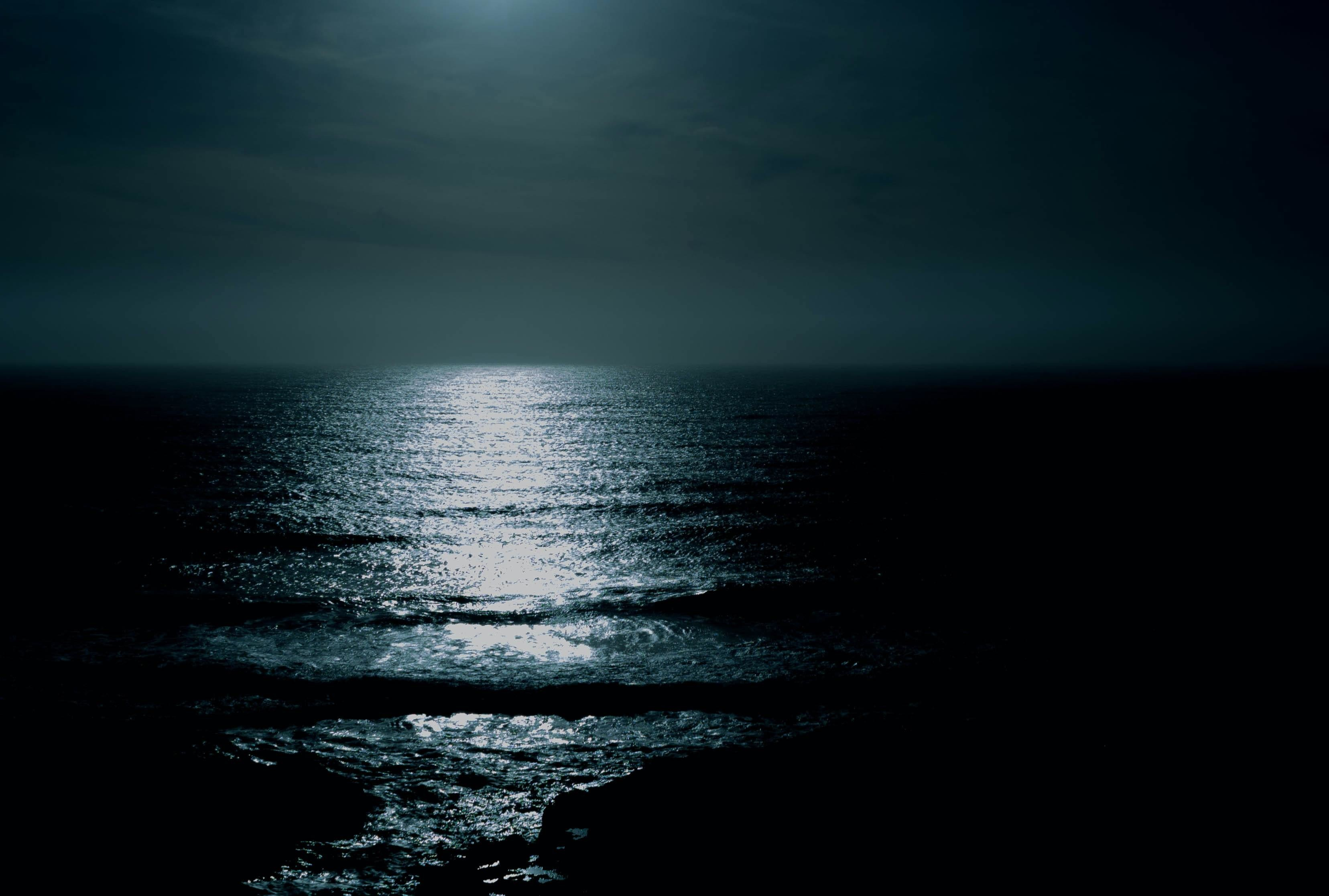 pictured here is the ocean at night. Scientists have been exploring a rare phenomenon whereby the ocean turns a luminous colour, called milky seas
