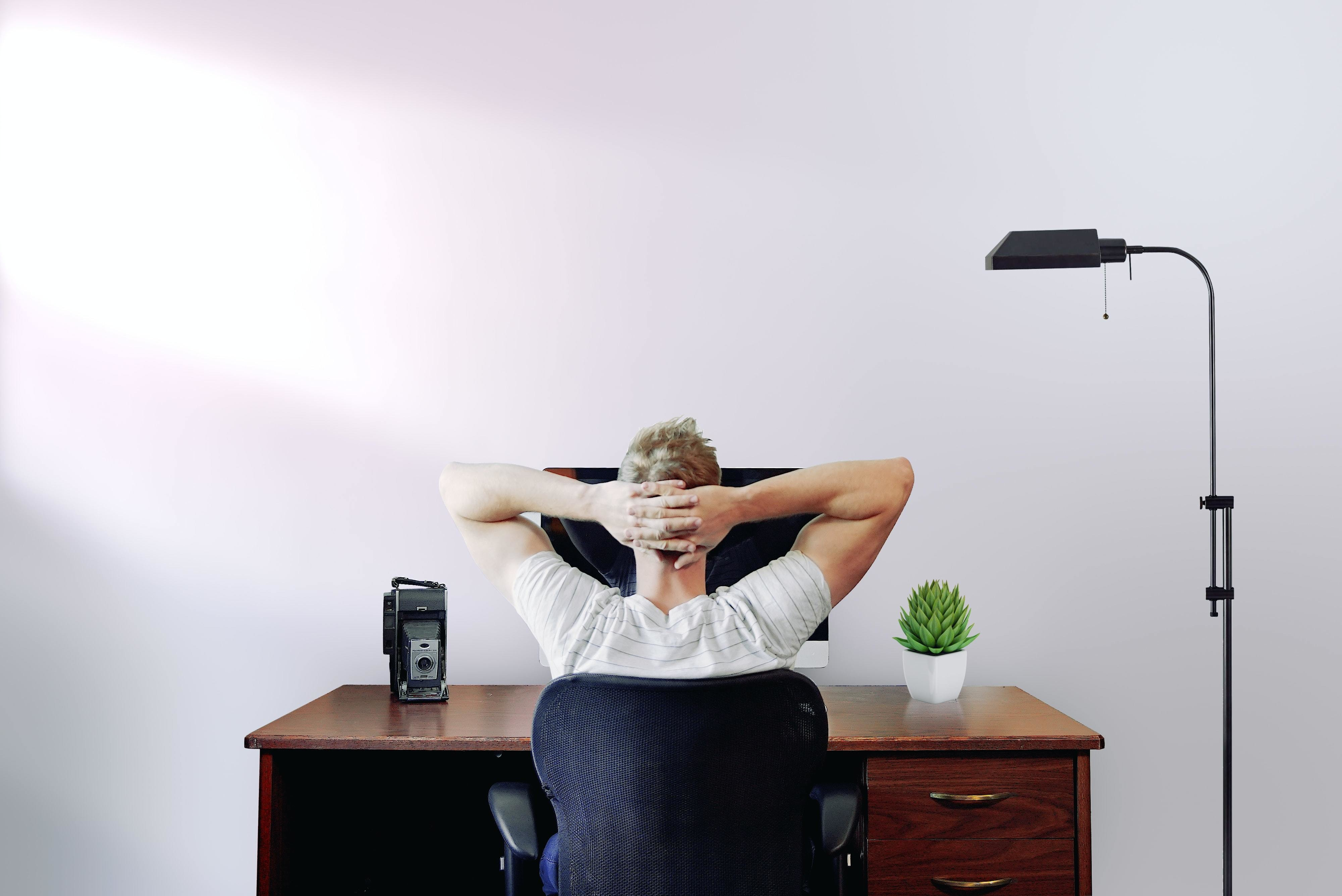 this man is working from home. A new report from the United Nations Development Programme has revealed how workplace developments can help us to move forward as a society