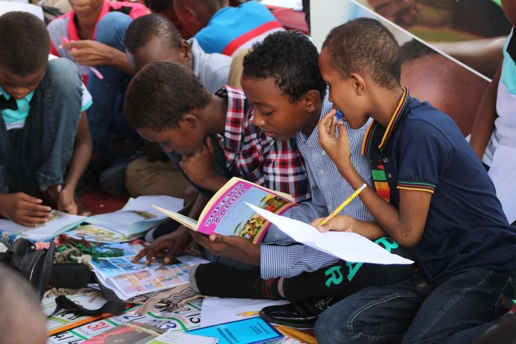image of children learning in Africa