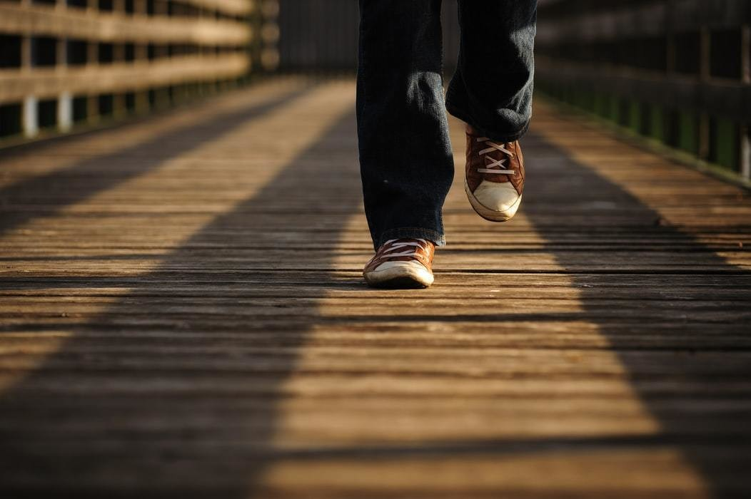Image of person walking