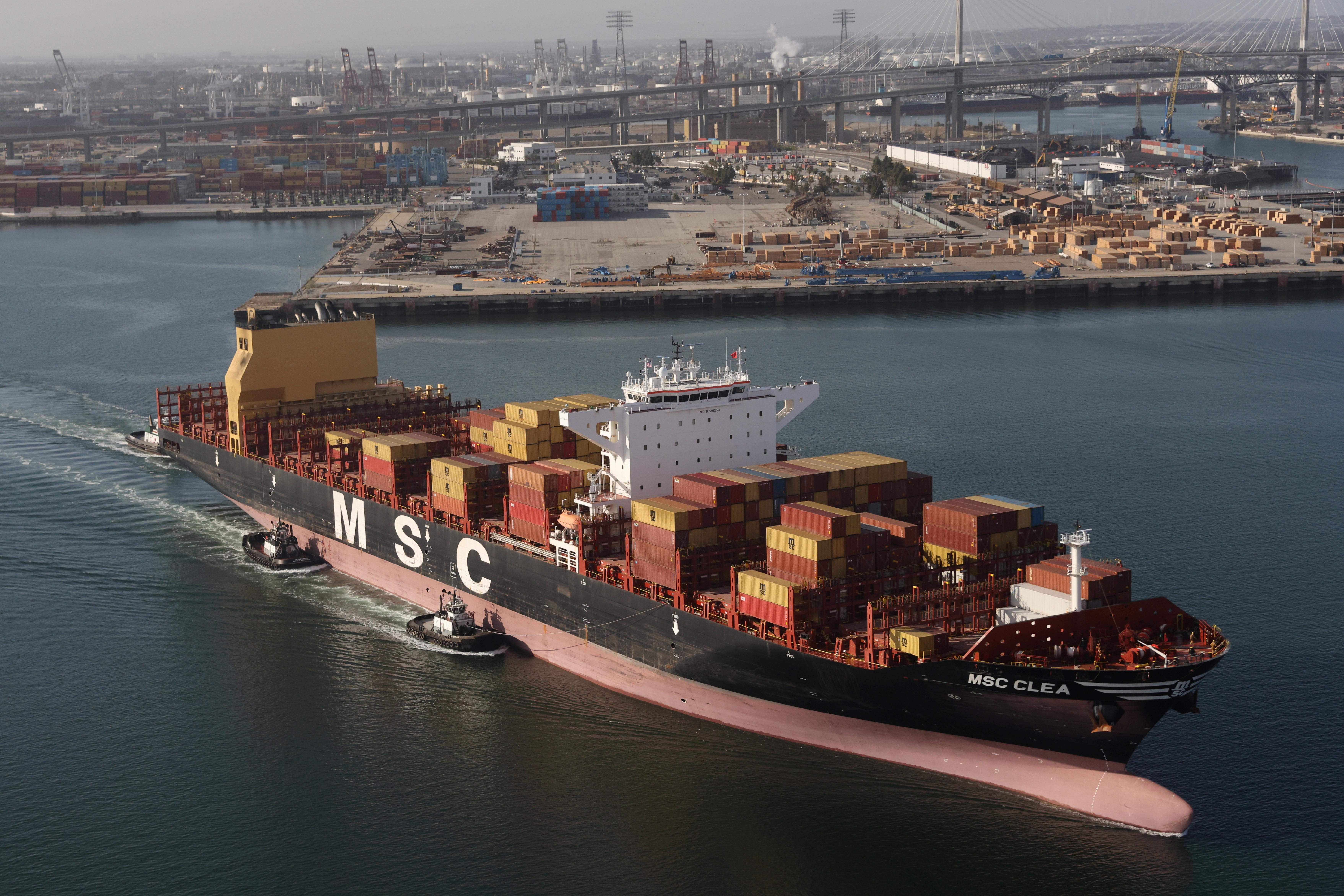 a container ship