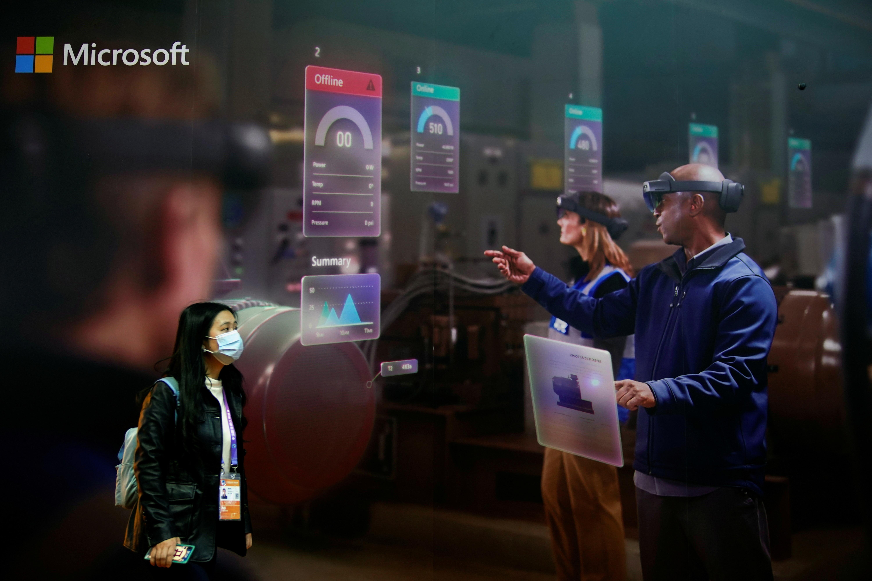 Se ve un letrero de Microsoft en la tercera Exposición Internacional de Importaciones de China (CIIE) en Shanghai, China, el 5 de noviembre de 2020. REUTERS / Aly Song - RC2UWJ9E5JZ4