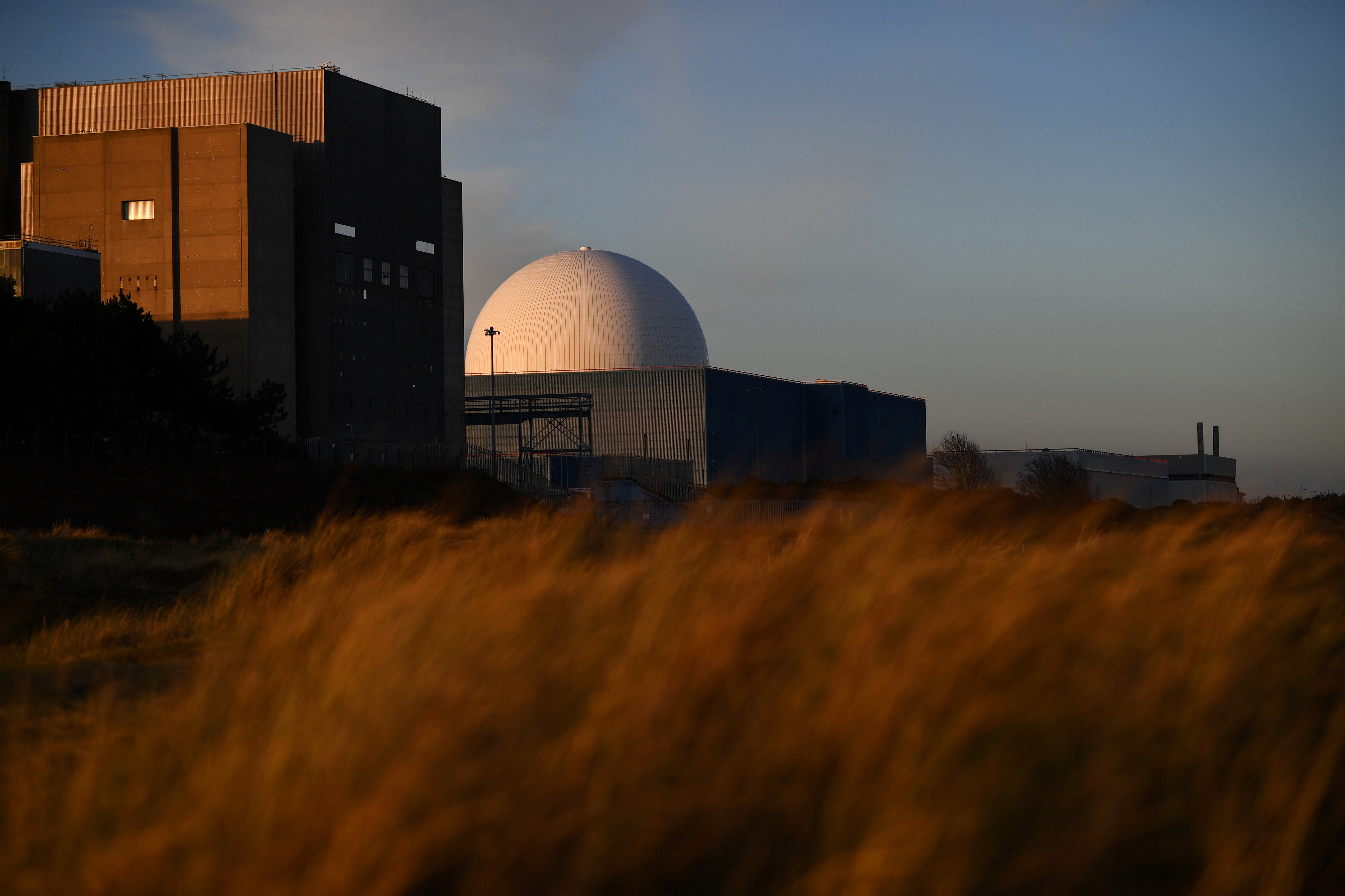 Sizewell nuclear power station is seen as the sun sets on Sizewell, Suffolk in Britain, December 16, 2017. Picture taken December 16, 2017