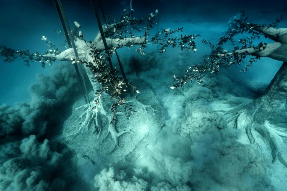 these are underwater sculptures in the Mediterranean sea