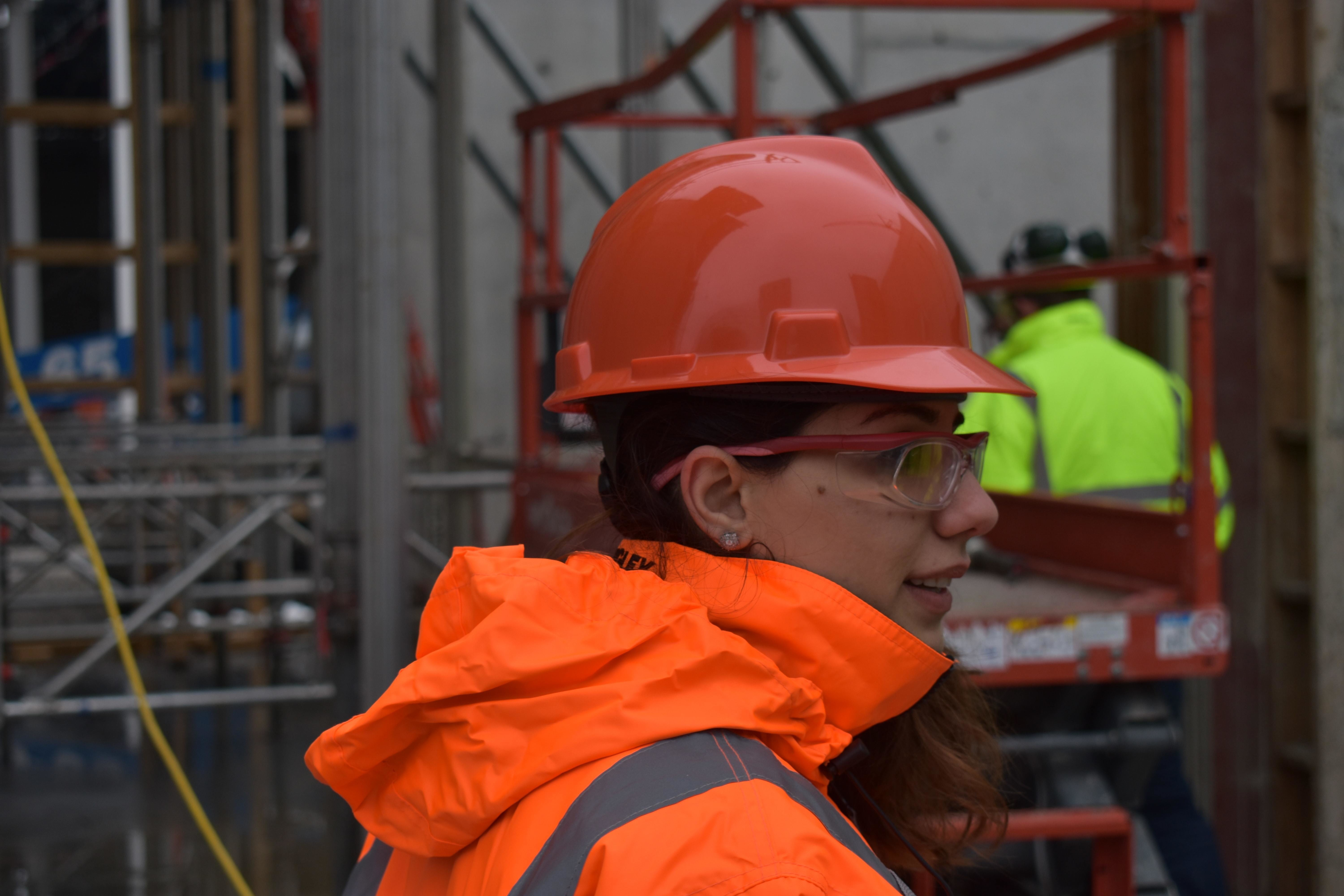 The construction sector would benefit from more female workers, like this one here.