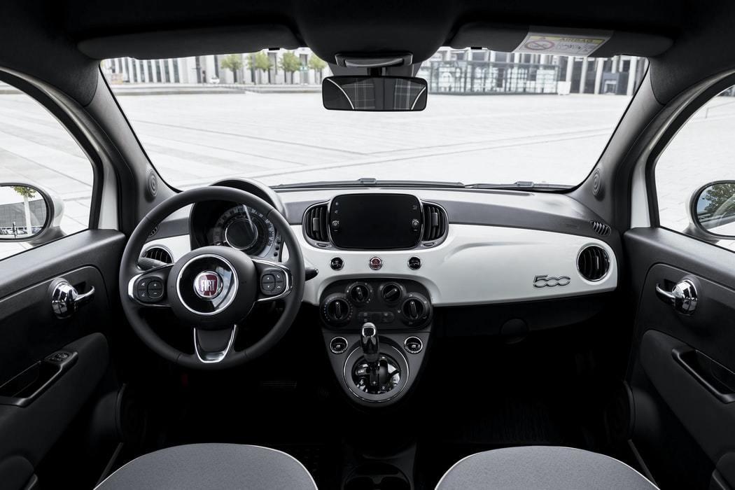 The interior of a car.