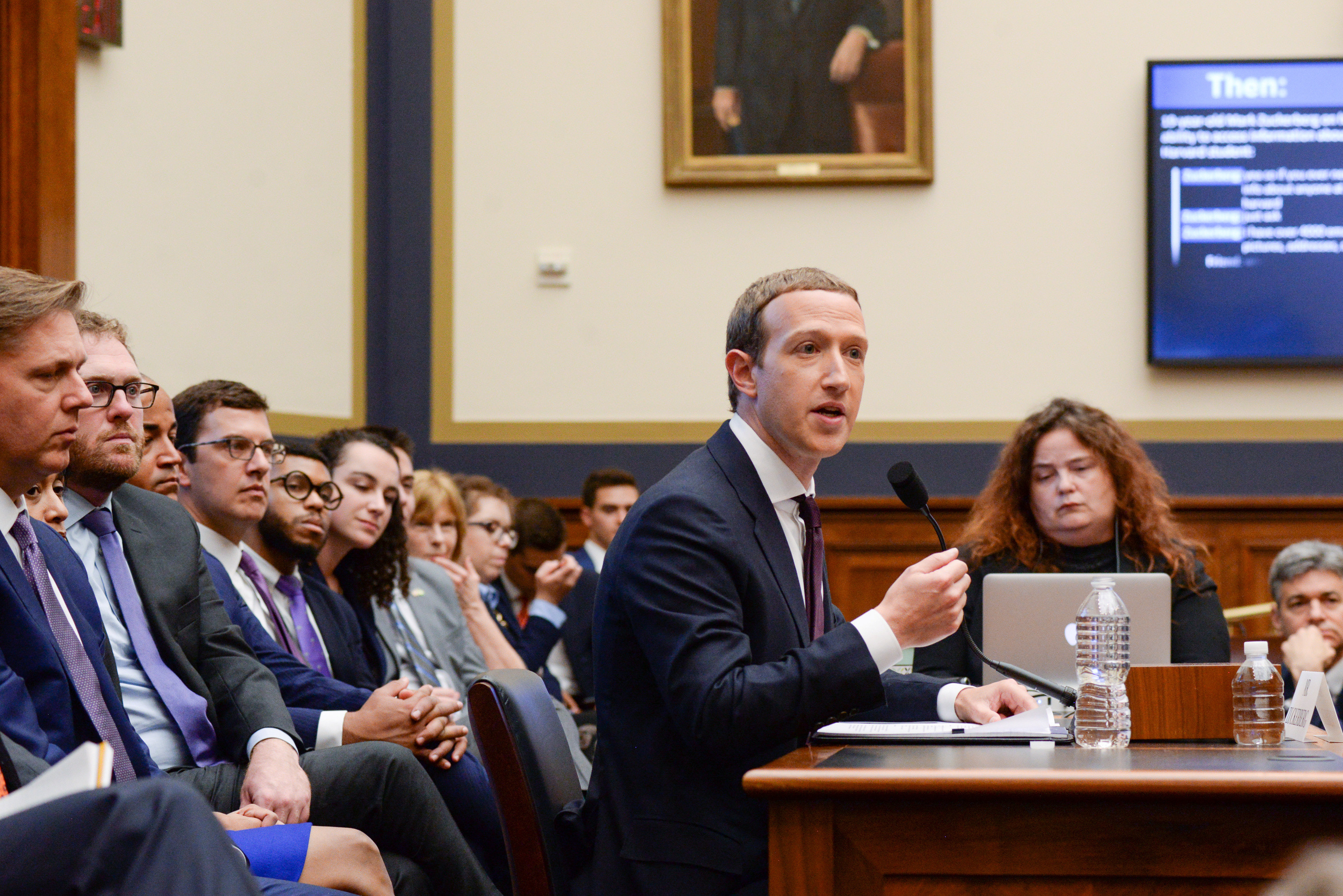 Facebook Chairman and CEO Mark Zuckerberg testifies at a House Financial Services Committee hearing in Washington, U.S., October 23, 2019. REUTERS/Erin Scott - RC17DEC6C4E0