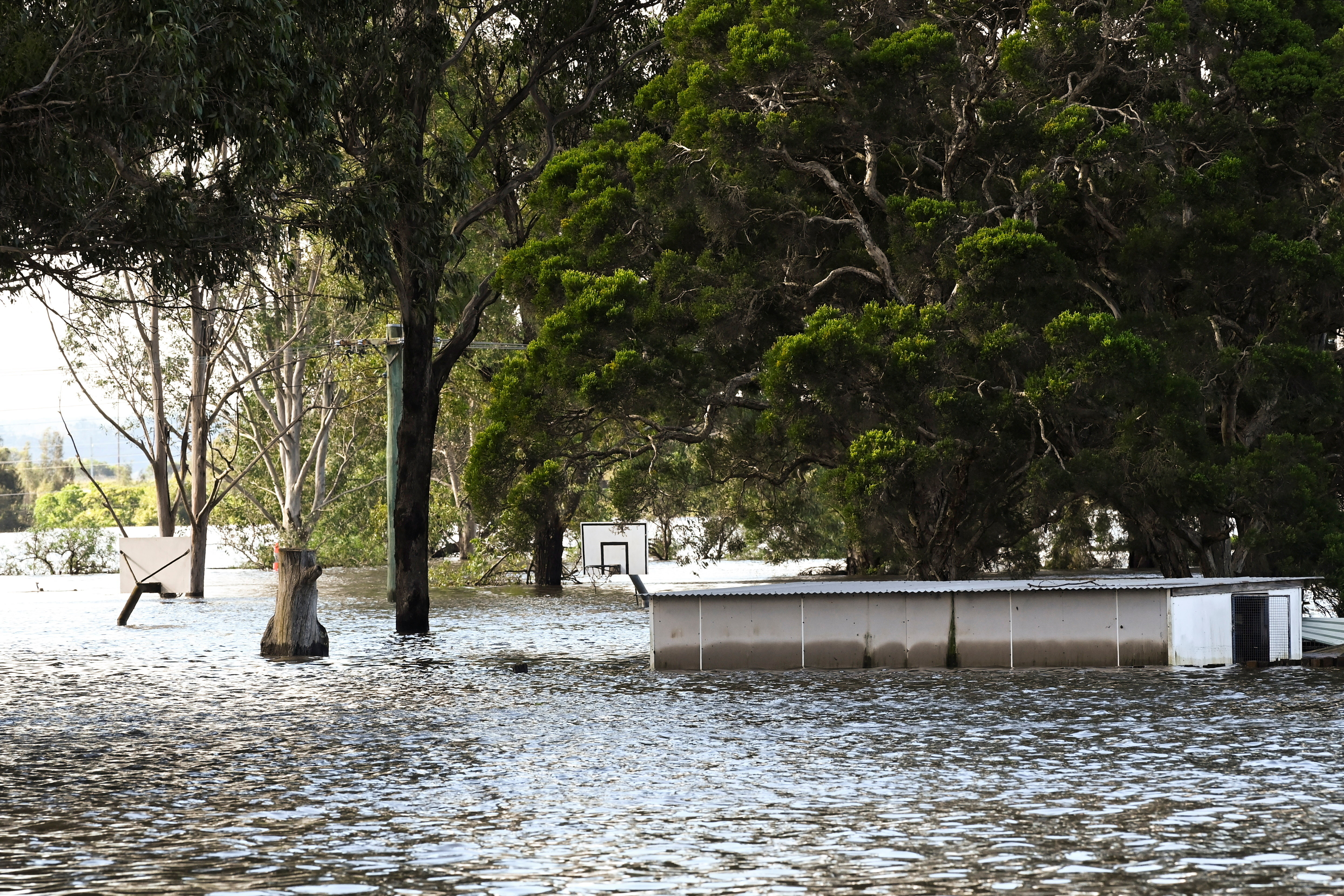 image of the severe flooding in New South Wales