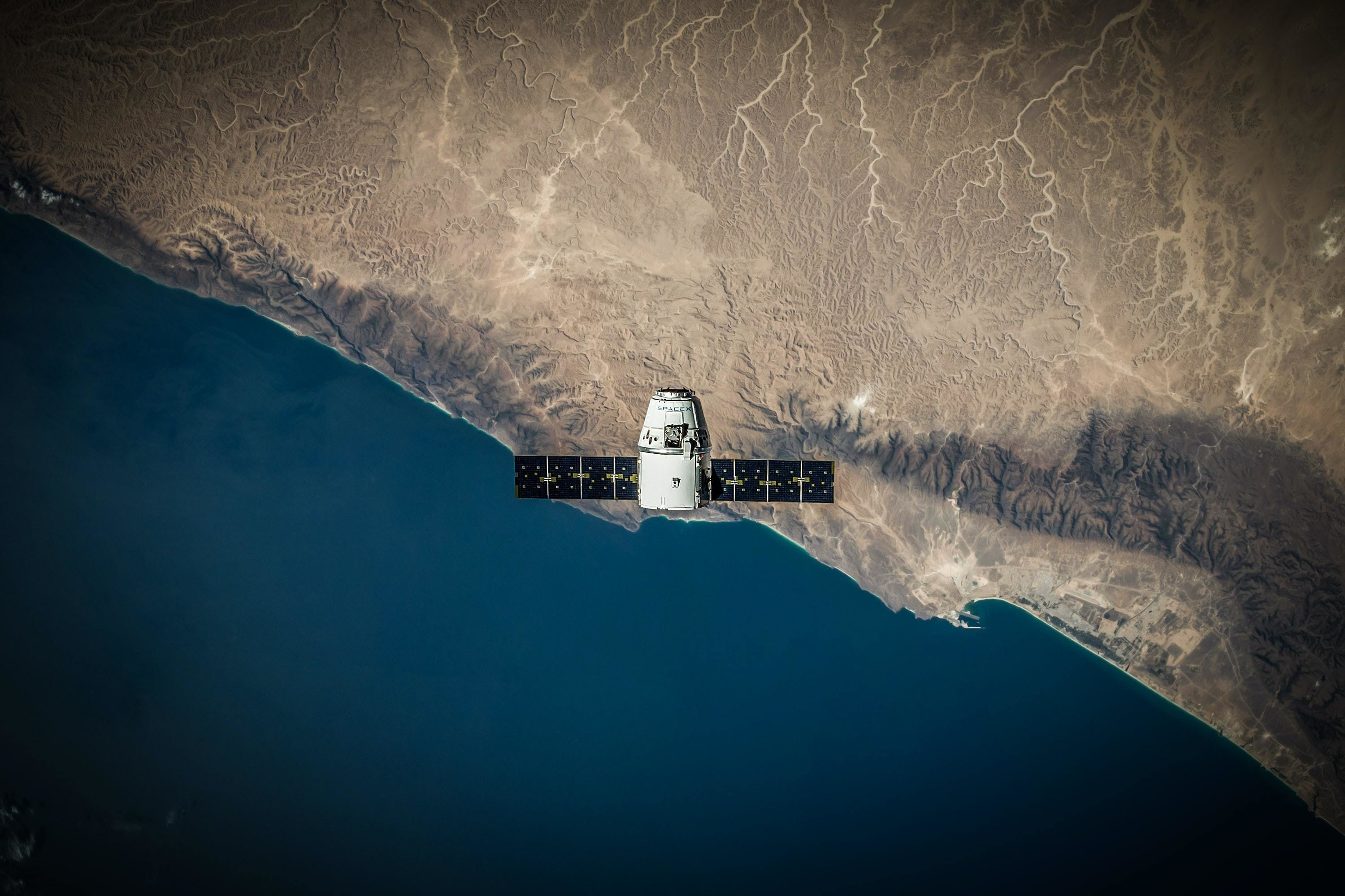 machine learning can be used to fill in data 'gaps' from satellites, like this satellite here
