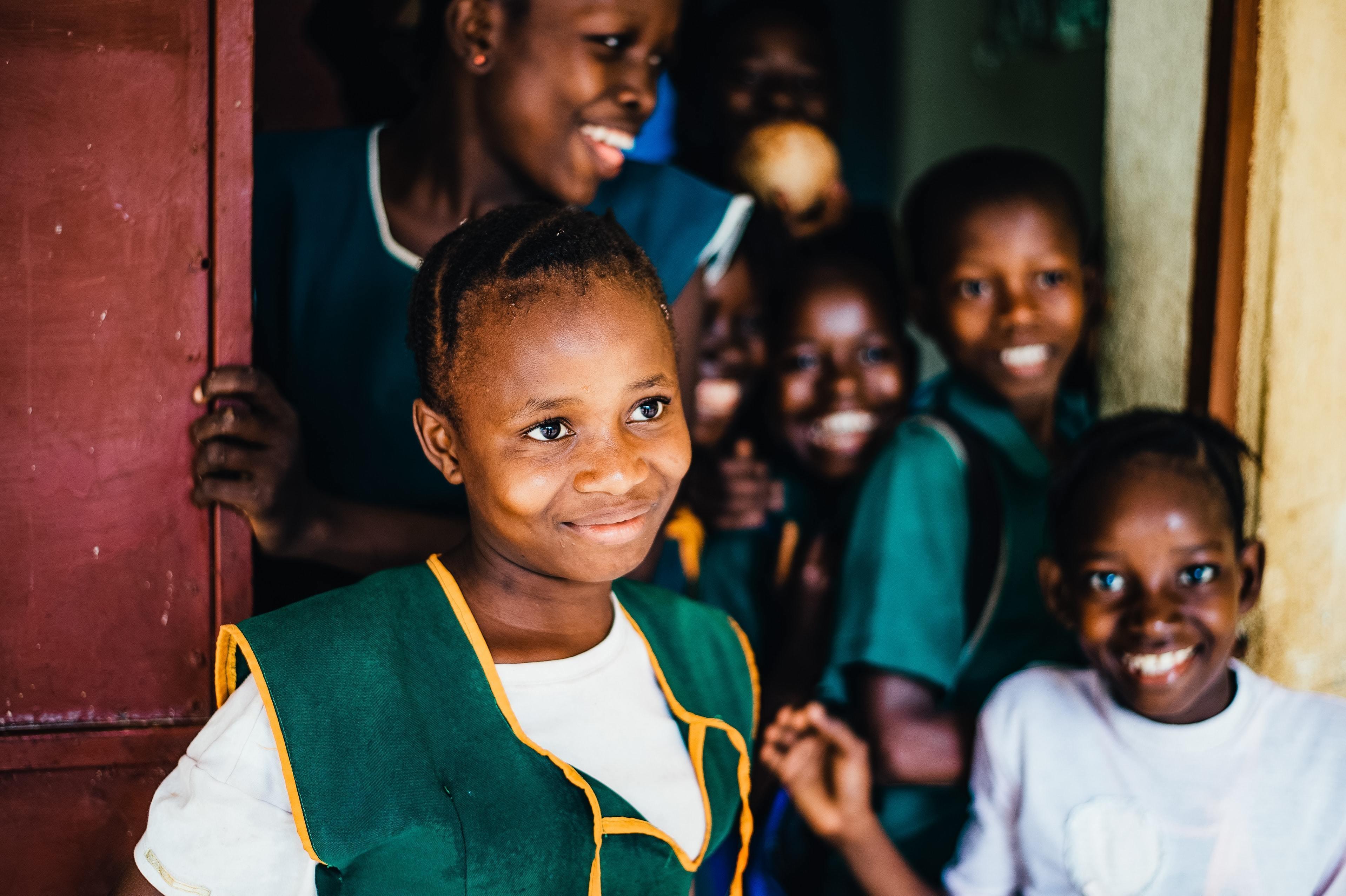 School children from Sierra Leone.