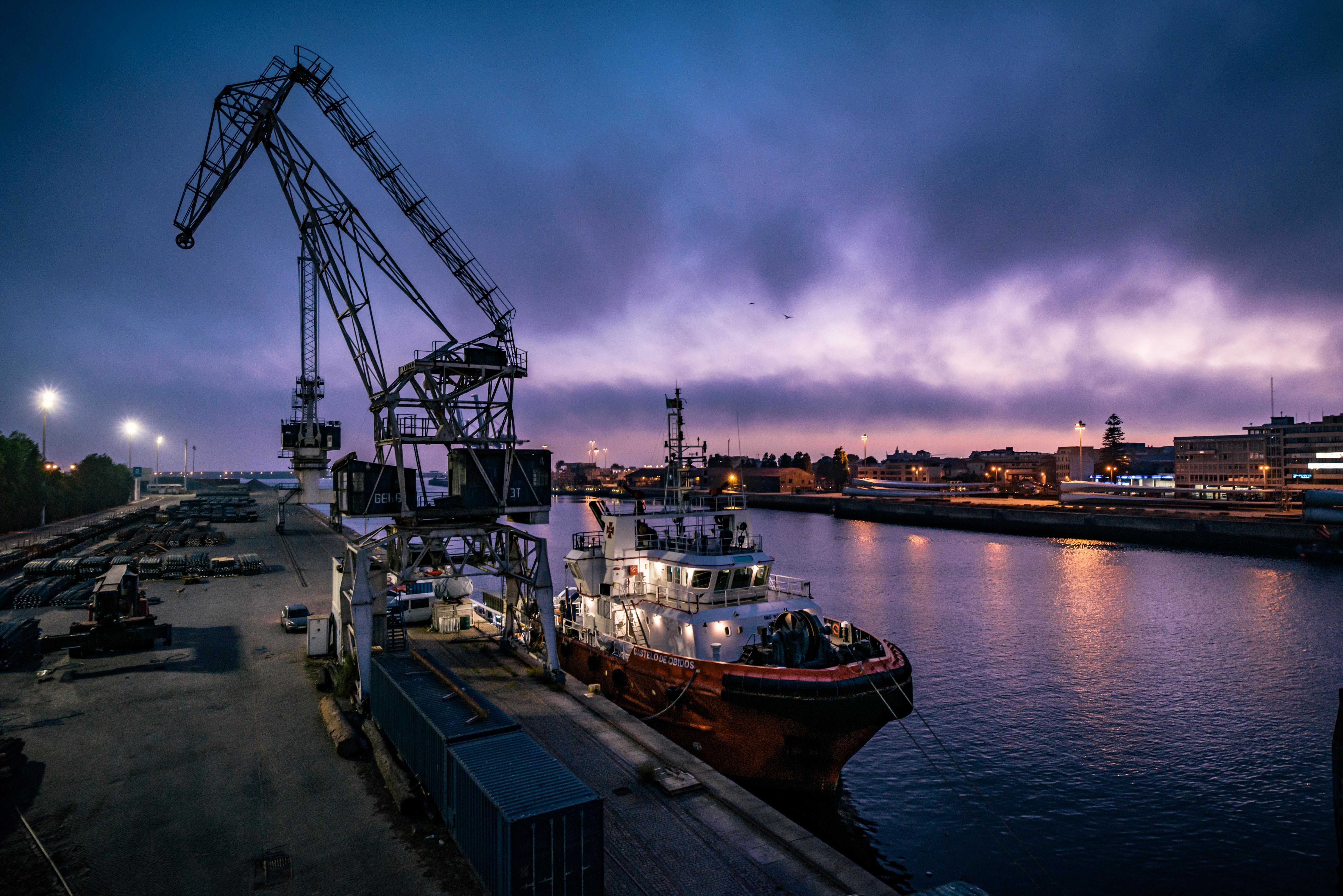 shown here is the sea trade port in Matosinhos, Porto; The Organization for Economic Cooperation and Development (OECD) has used research and charts to unpack how trade works