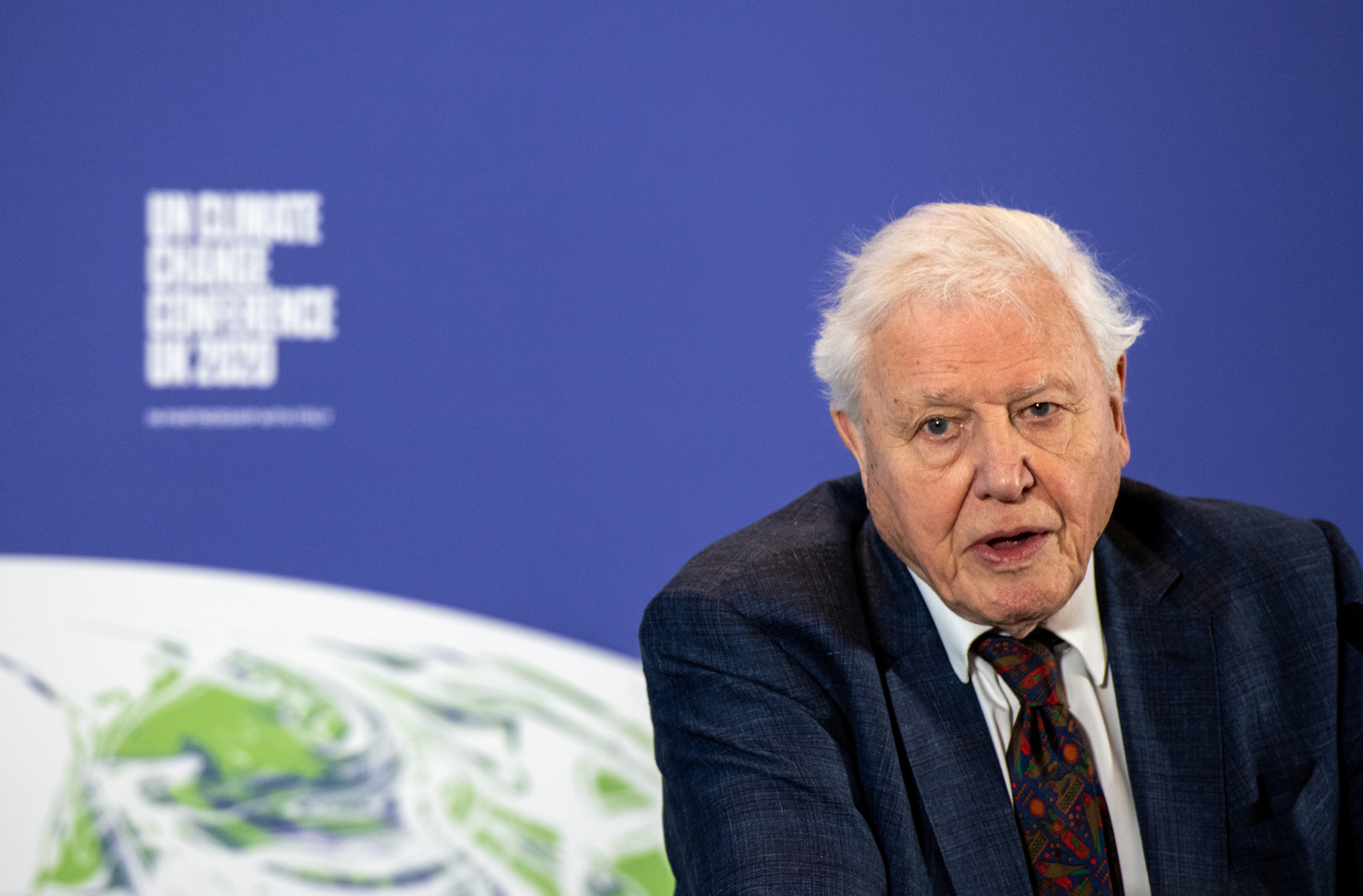 David Attenborough speaks during a conference about the UK-hosted COP26 UN Climate Summit, at the Science Museum in London, Britain February 4, 2020. Chris J Ratcliffe/Pool via REUTERS - RC2OTE9EIT0D