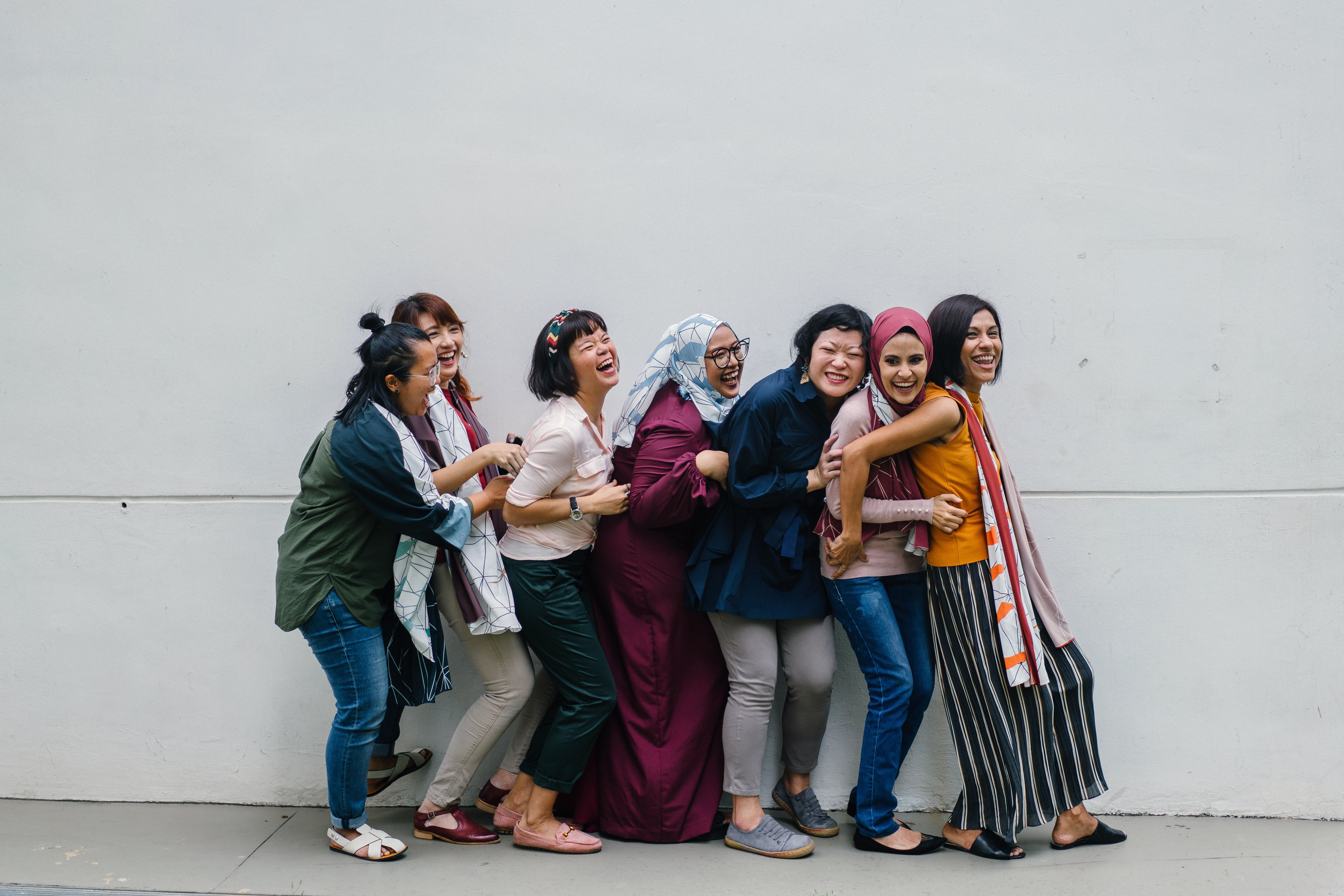 Image showing a group of women smiling