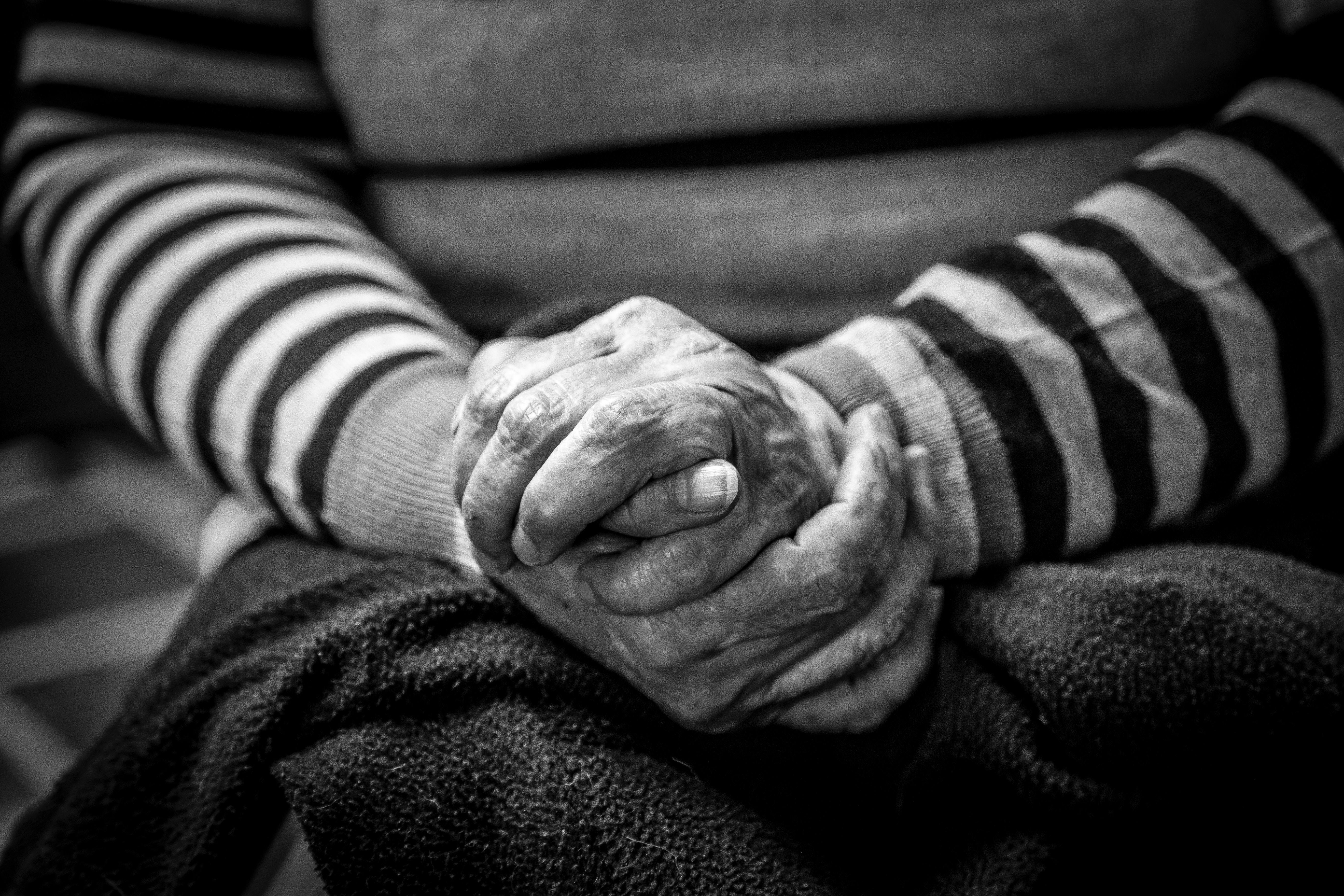 ageing old population death decline loss family relationships depression suffering elderly retirement care home emotions bereavement spouse