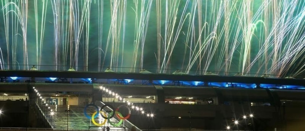 2016 Rio Olympics - Closing ceremony - Maracana - Rio de Janeiro, Brazil - 21/08/2016. Performers take part in the closing ceremony
