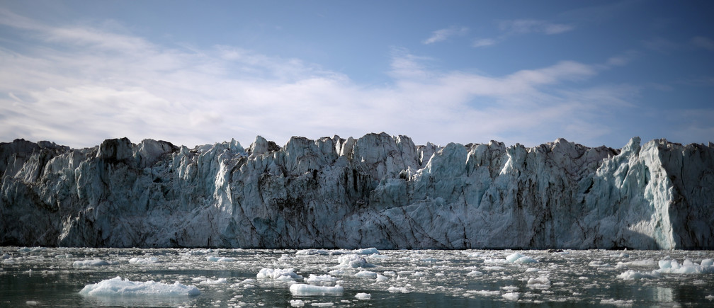The Wahlenberg Glacier is seen in Oscar II land at Spitsbergen in Svalbard, Norway, August 5, 2019.