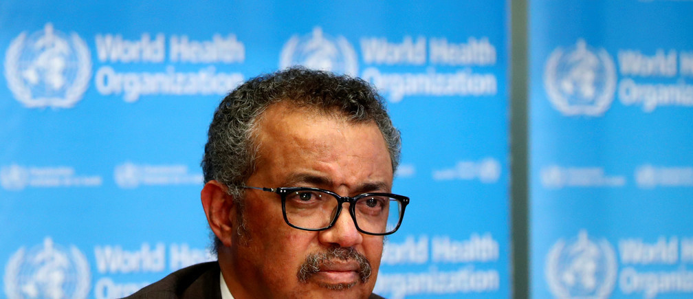 """""""Nous regrettons la décision du président des États-Unis d'ordonner l'arrêt du financement de l'Organisation mondiale de la santé"""", a déclaré le directeur général, le Dr Tedros Adhanom Ghebreyesus."""