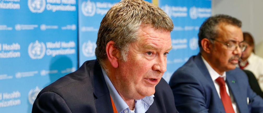El Director Ejecutivo del programa de emergencias de la Organización Mundial de la Salud (OMS), Mike Ryan, habla en una conferencia de prensa sobre el nuevo coronavirus (2019-nCoV) en Ginebra, Suiza, el 6 de febrero de 2020.