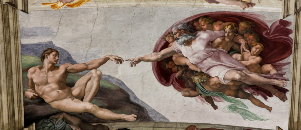 The Creation of Adam by Michaelangelo