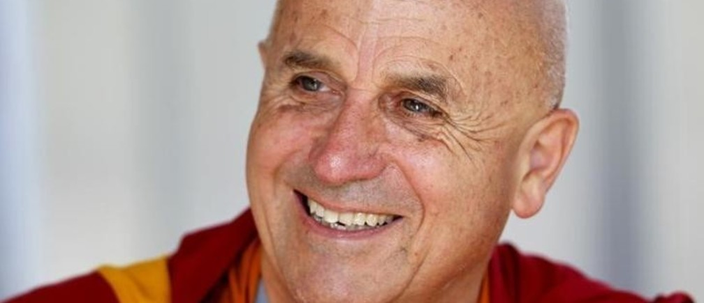 French Buddhist monk Matthieu Ricard attends the French employers' body MEDEF union summer forum on the campus of the HEC School of Management in Jouy-en-Josas, near Paris, September 2, 2011. REUTERS/Charles Platiau (FRANCE - Tags: BUSINESS HEADSHOT RELIGION)