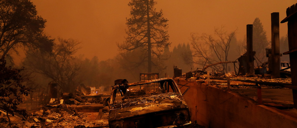 Properties destroyed by the the Camp Fire are seen in Paradise, California, U.S., November 9, 2018. REUTERS/Stephen Lam - RC1ED5CF3770
