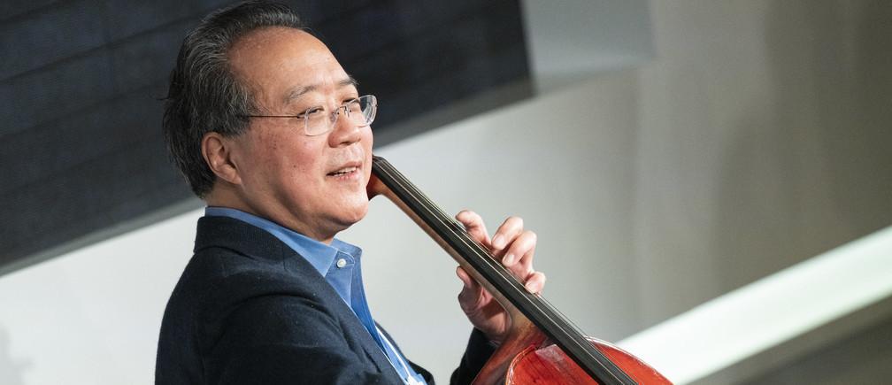 Yo-Yo Ma, violoncelliste, membre du conseil d'administration du Forum économique mondial lors de la réunion annuelle 2020 du Forum économique mondial à Davos-Klosters, Suisse, 22 janvier 2020
