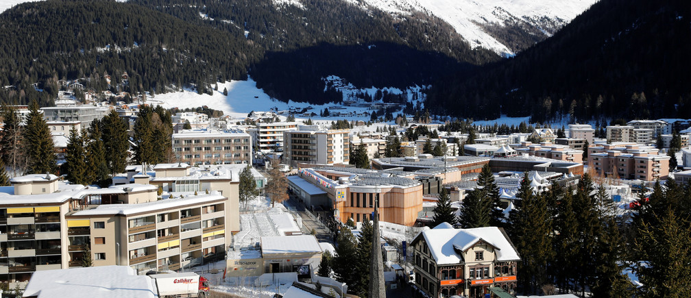 A general view shows the the congress center, the venue of the World Economic Forum (WEF) and the Alpine resort of Davos, Switzerland January 22, 2020.