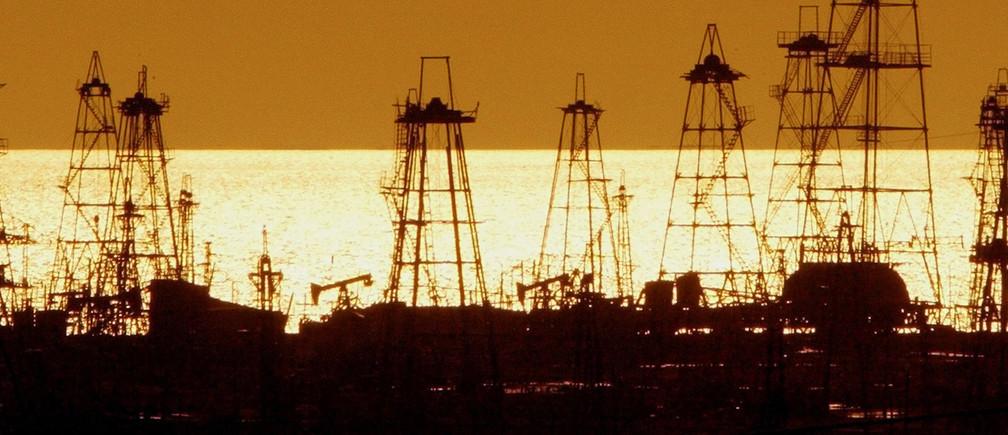 Azerbaijani oil derricks