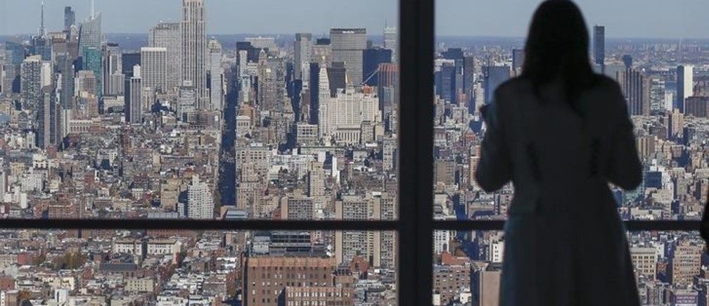 The Manhattan skyline is seen from the 68th floor of the 4 World Trade Center tower in New York, November 13, 2013. The 4 World Trade Center sits at the south east corner of the World Trade Center site and will be the second tower to open on the site since the 2001 attacks on the World Trade Center. REUTERS/Shannon Stapleton (UNITED STATES - Tags: POLITICS CITYSCAPE)