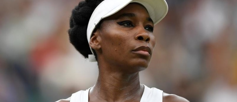 Tennis - Wimbledon - London, Britain - July 11, 2017   Venus Williams of the U.S. during her quarter final match against Latvia's Jelena Ostapenko     REUTERS/Tony O'Brien - RTX3AZZ4